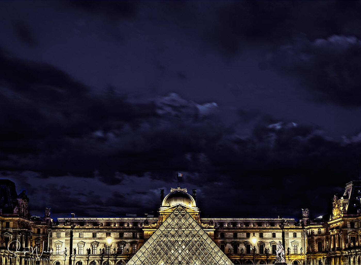 The Louvre at Night by Skip Weeks