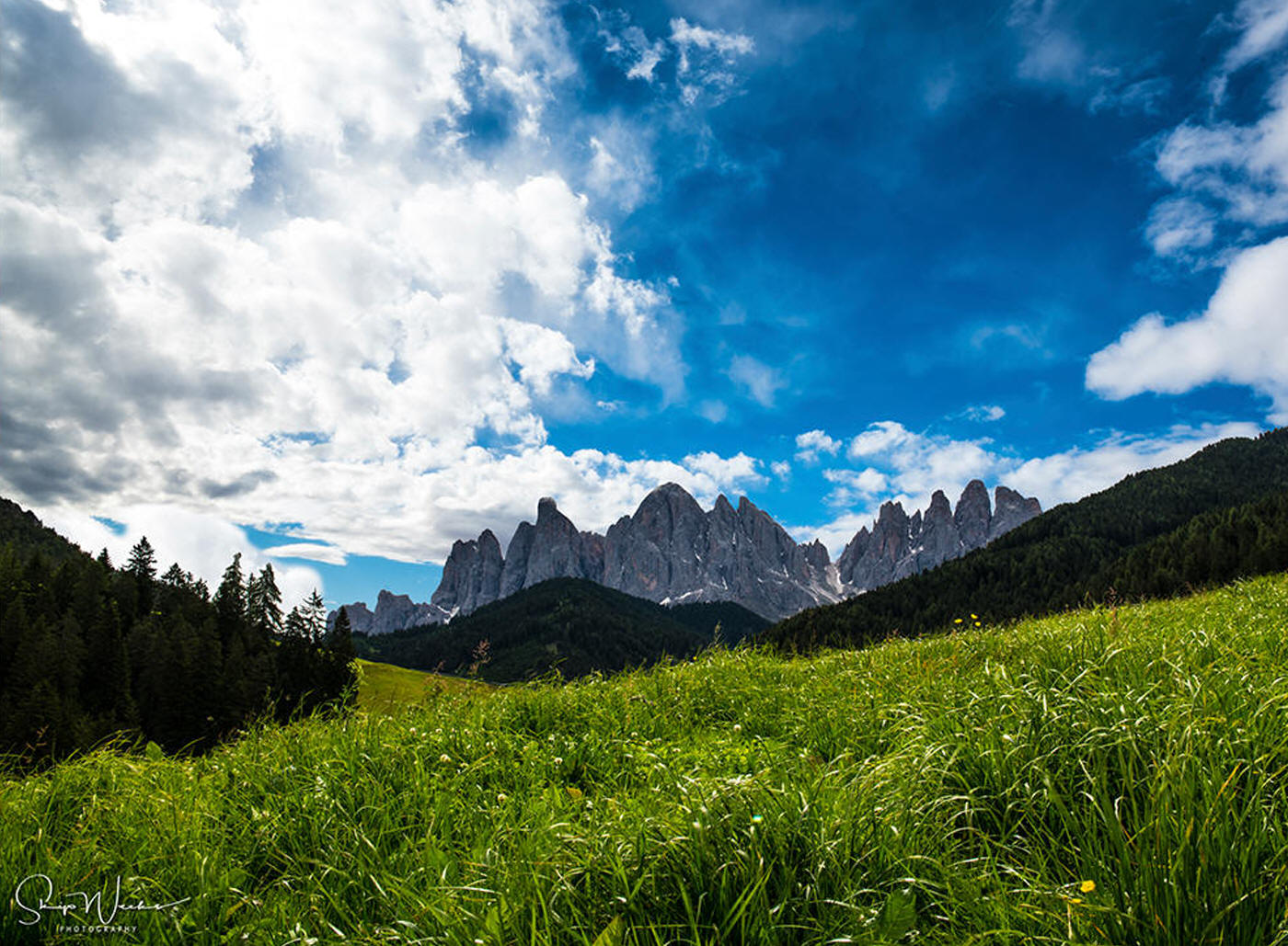 Approaching the Dolomites by Skip Weeks