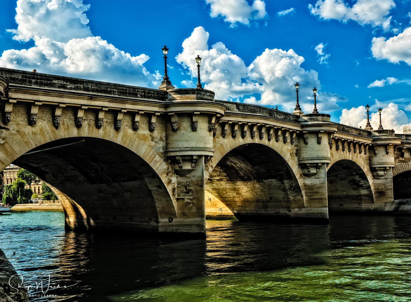 The Pont Neuf Bridge Over the Seine by Skip Weeks